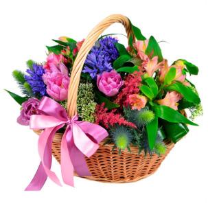 """Цветы в корзинке """"Светлые мысли"""""""